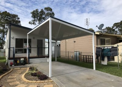 High Pitch Flatdek Carport